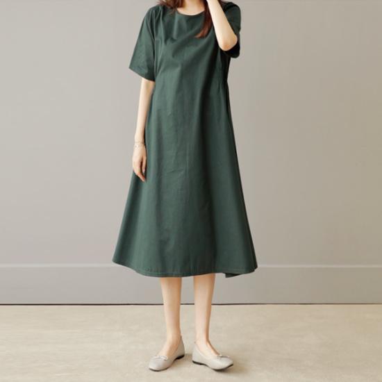 ビナインラバニバンディングワンピース 綿ワンピース/ 韓国ファッション