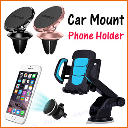 Car Mount Holder ★ Magnetic Hand Phone Holder in Car / Universal Air Vent and Sticker Designs ◇ SG