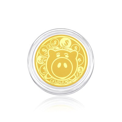 Chow Tai Fook Disney Pixar Toy Story 999.9 Pure Gold Coin - Hamm R22518