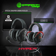 KINGSTON HYPER X Cloud 2 ll BLACK RED - GUNMETAL 7.1 Surround Gaming Headset. Noise Cancelling Microphone, Echo Cancelling w Inline Sound Card. Local Stocks n Warranty!
