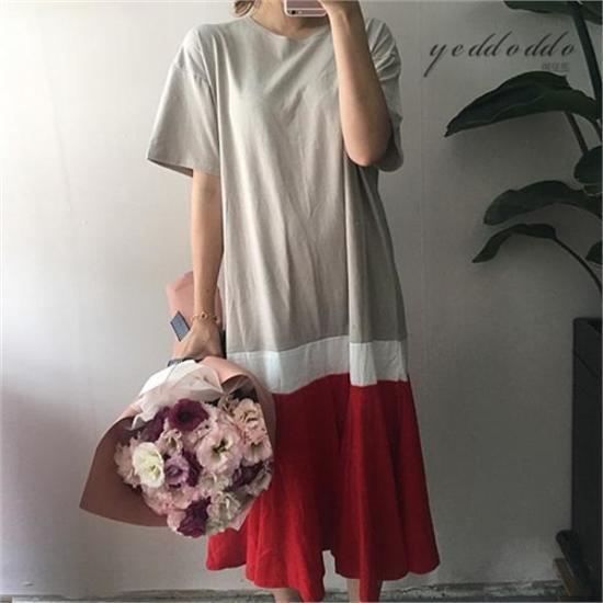 はいトト行き来するようにはいトト劉ワンピース プリントのワンピース/ 韓国ファッション