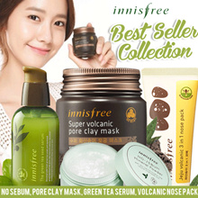 [INNISFREE] Green Tea Seed Serum 80ml/ Jeju Volcanic 3 in 1 Nose Pack/ No Sebum/Pore Clay
