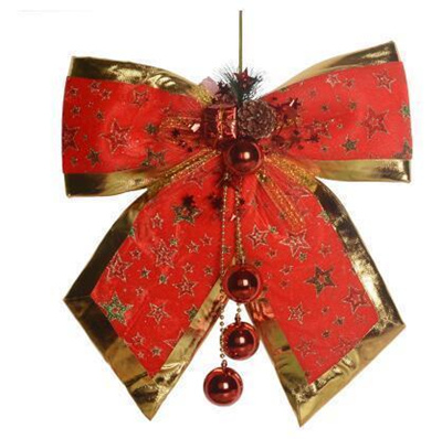 Christmas decorations Christmas bow Large fabric Bow bow Christmas tree ornaments Christmas scene de