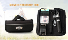 Road Mountain Bike Bicycling Cycling Riding Portable Repairing Tool Set Suite Kit+Glue+Pump+Wrench+Donate Bag