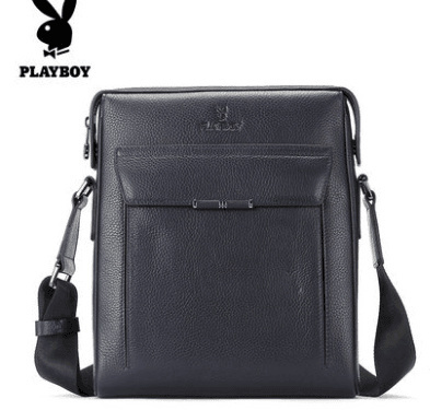 5899c6fd0d9e Playboy pure authentic one shoulder Messenger bag mens vertical casual  simple first layer leather
