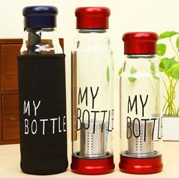 ★Korean Best Selling Glass Water Bottle★ / High borosilicate/ Glass Drinking Bottle/ BPA free / Tea