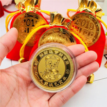 2019 Chinese New Year Fortune Gold Coins and Ruyi / Pig Year / Perfect CNY Gift/red packet 2019