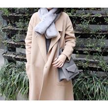WomenS Winter New Casual Style Single Button Woolen Coat Long Overcoat
