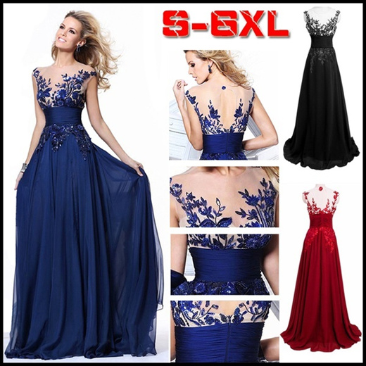 Qoo10 Women Sexy Lace Formal Dress Evening Party Stage Host Dress Fashion Ch Pakaian Anak