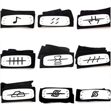 CODOMO Uzumaki Naruto Cosplay Headband Leaf Village Black Blue Red Set For Pain Hatake Kakashi