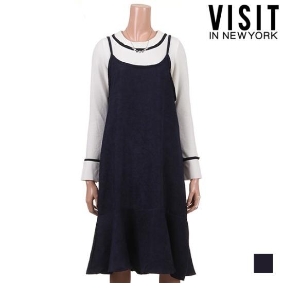 ・ビジット・インニューヨークペプラムビュスチェワンピースVTJOP18 面ワンピース/ 韓国ファッション