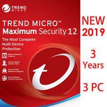 Trend Micro Titanium Maxmium Security 12 2019 - 3 YEARS FOR 3PC / Antivirus/internet security