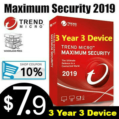 【Fast local delivery】Trend Micro Maximum Security 2019 - 3 Devices 3 Year  Antivirus Software Key