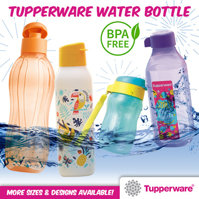 Limited Edition /& Free Shipping /& Brush Tupperware Cool N Chic Eco Bottles