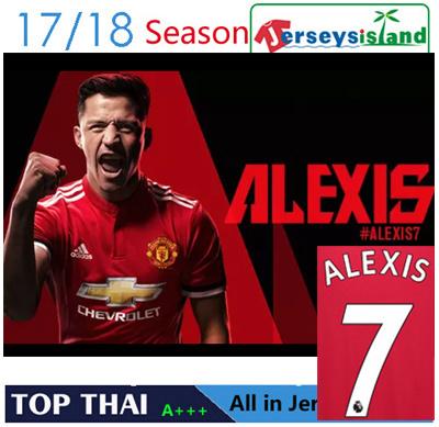 c800515d3ac 2017 17 18 Manchester United Jersey Home Away 3rd Soccer Shirt ALEXIS