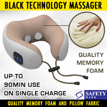 (1212 PROMO) Latest Black Technology Rechargeable Travel Massager/ Electronic Pulse/ Kneading Option