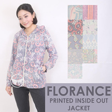 The-Fahrenheit Florance Printed Inside Out Hoodie Jacket