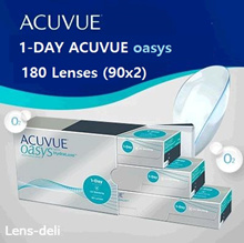 One Day Accuview Oasis 90 Sheet 【2 Box】 Contact Lens One Day Disposable Johnson  Johnson