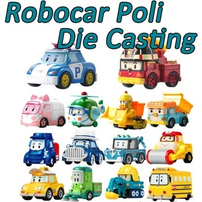 Academy Plastic Co Ltd Robocar Poli Die Casting Heli Roi Amber Robot Car Korea Animation Cartoon Diecasting Miniatures Chr