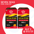 [Merck]【Buy 2 Cod liver 100s for $12.12】SEVEN SEAS JointCare Extra Cap | Cod Liver Oil Gold