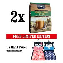 [BUNDLE OF 2] OWL White Coffee Tarik Coconut Sugar+ Hand Towel