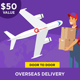 Qdelivery Service Voucher [Value S$ 50] for Global Delivery ( Overseas )