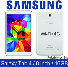 Samsung Galaxy Tab 4 / 8.0 inch / Wi-Fi+4G / SM-T337 / 1.5GB RAM / 16GB ROM / Refurbished Set