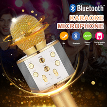 ★Big-Sale★BUY 3 FREE SHIPPING★Q7/Q9/WS-858 Wireless Bluetooth KTV Karaoke Microphone USB KTV Speaker