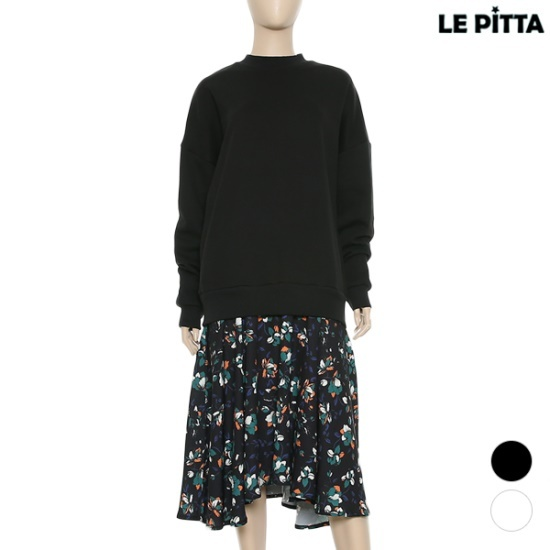 ルピタフラワーラッフルマンツーマンワンピースL171COJ153 面ワンピース/ 韓国ファッション