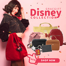Gracegift-★NEW BAG★Disney Mickey Minnie Shoulder Bags Handbags Backpacks New Year Gift