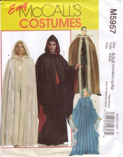 Qoo10 - McCall s Easy Sewing Pattern M5957 Adult Renaissance Cape ...