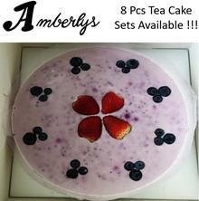 AMBERLYS 4 Pcs Cheesecake : Oreo Chocolate / Blueberry Yogurt / Strawberry Jelly / Mango Milk Tea
