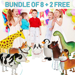 Bundle of 8 Walking animal Balloon / walking pet balloons / party balloons / helium balloons