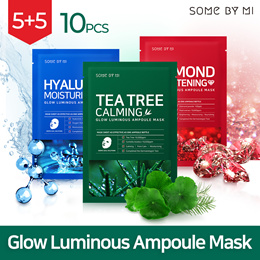 ★TODAY ONLY!!★■ SOMEBYMI ■ GLOW LUMINOUS AMPOULE MASK 10PCS [TEA TREE / HYALURON / DIAMOND_3types