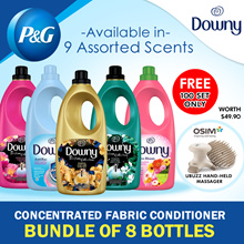 [Downy] Carton Sale! Bundle of 8 + FREE OSIM uBuzz Massager! Concentrated Fabric Conditioner Bottled 1.8L / 10 Type
