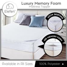 [Oculus Living] Elefen Luxury Memory Foam Mattress Topper / Single / S.Single / Queen / King