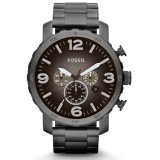 Fossil JR1437 Nate Grey Chronograph Stainless Steel Analog Men s Casual Watch