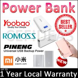Xiaomi PINENG® Romoss® and Yoobao® 5000 to 20000mAh Power Bank