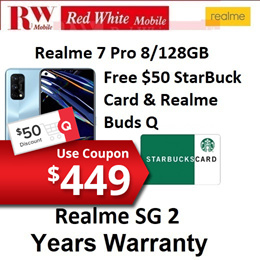 Realme 7 Pro 8/128GB ROM Local 2 Years Warranty By Realme Singapore