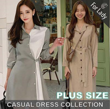 14th Oct Update  ♥Korean Style♥ Linen / Casual / LOOSE Fit / Dress / Plus Size / Encounter Dress