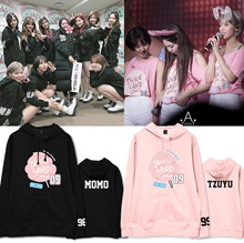 Korean style goods TWICE clothes sweat TWICE wearing parka same style costumes supportive clothes Korean star sweat long sleeve liner blouse concert T-shirts practice clothes cosplay baseball clothing