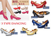 NEW DESIGN 13/11/2016 ~ 3 TYPE Comfortable Ladies Low Heel Dancing Shoe ~ Size34-42