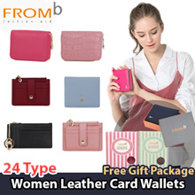 ★[Local Delivery]★[FROMb] Korea Designer Brand / Women Leather Card Wallets / [Free Gift Box]