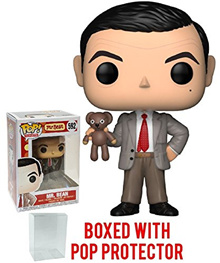Pop Protector Funko Pop! Movies: Mr. Bean - Mr. Bean Vinyl Figure (Bundled with Pop Box Protector Ca