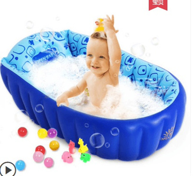 28fa19980aff Infant tub inflatable insulation baby bath newborn young children bath  barrel large thicker to sit l