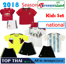 Kids National Set 2018 SOCCER JERSEY Football Liverpool/Manchester Unitd/Japan/Germany Shirt
