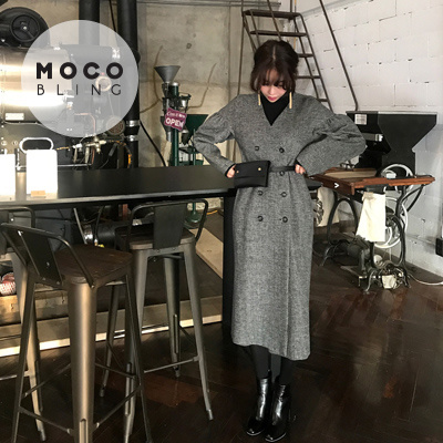 【MOCOBLING】 韓国ファッション ドレス /チェックワンピース - ops
