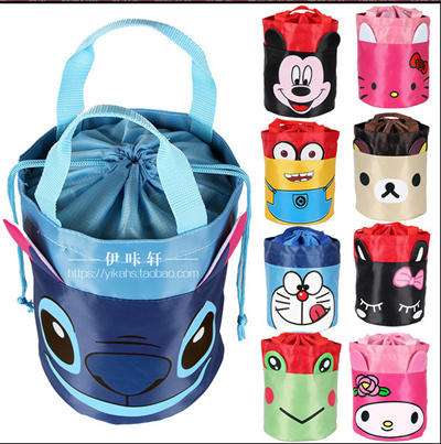 ±The most popular×Cartoon round lunch box with rice bags * * waterproof bag lunch bags lunch bag lun