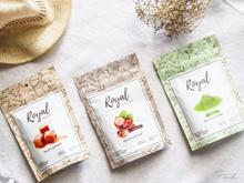 Royal Tea Matcha / Caramel / Hazelnut / Thai Tea. Bubuk Minuman 100 Gr - Caramel
