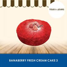 [DESSERT] BanaBerry Fresh Cream Cake 3 /Tous Les Jours /TLJ